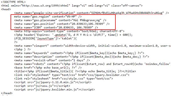 the head trong code web