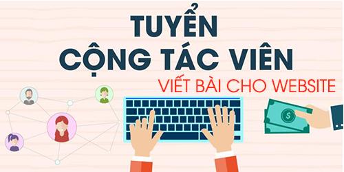tuyen cong tac vien viet bai cho website